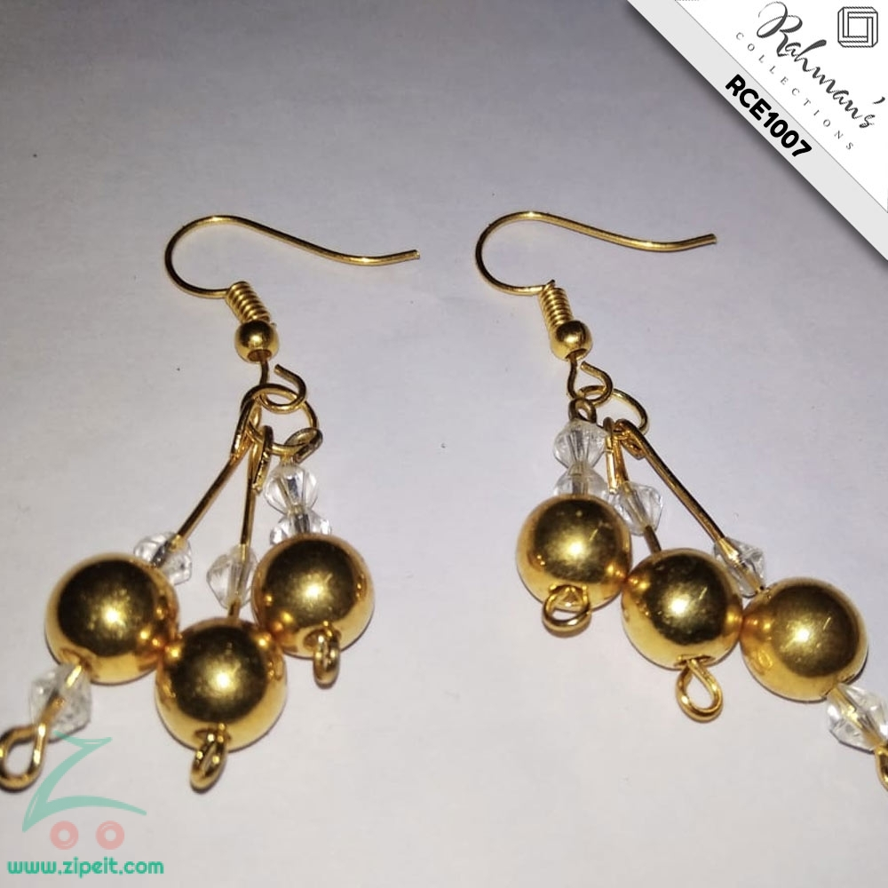 Rahman's Collections 3 Gold Ball Earrings for Women (RCE1007)