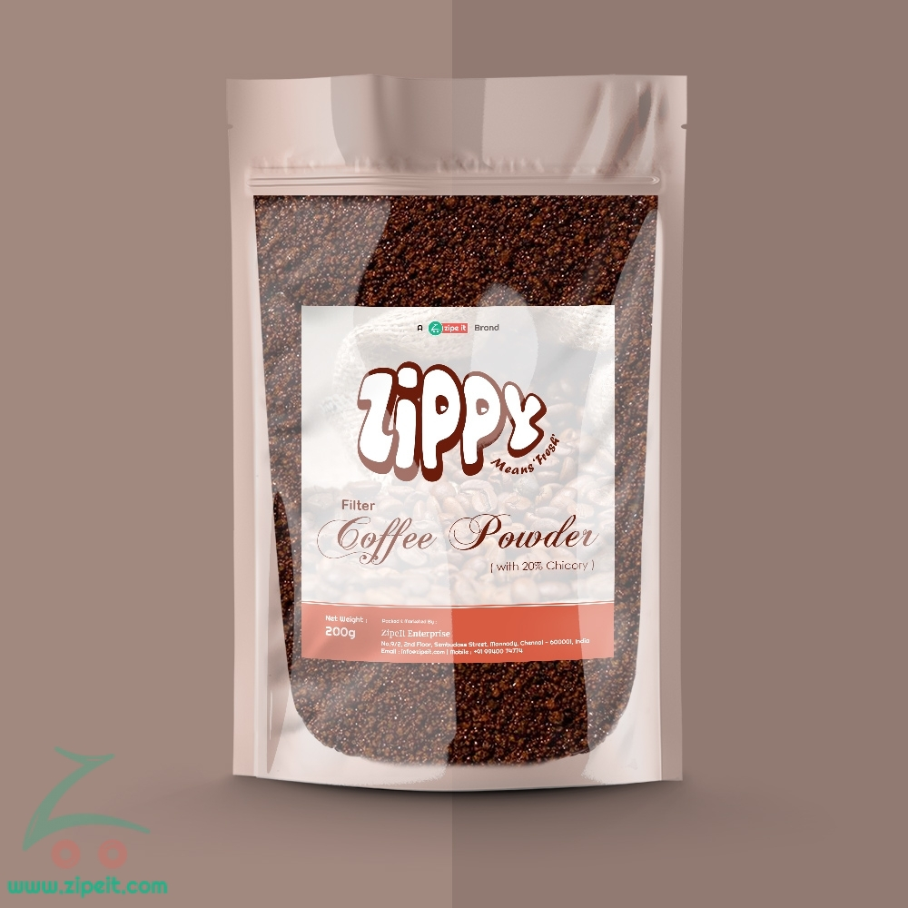 Zippy Filter Coffee Powder (with Chicory) - 200g